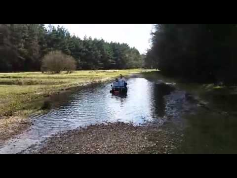 150cc mini willys jeep died in water winch out