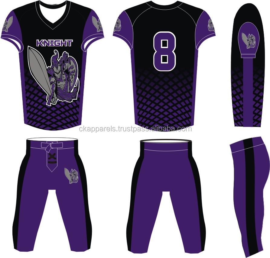 858a45c2a42 New Design Dye Sublimation American Football Uniform - Buy American ...