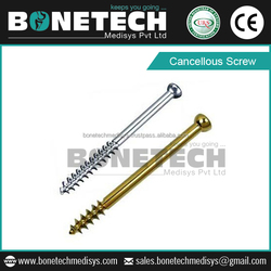 Orthopedic Implant Titanium Surgical Cancellous Screw