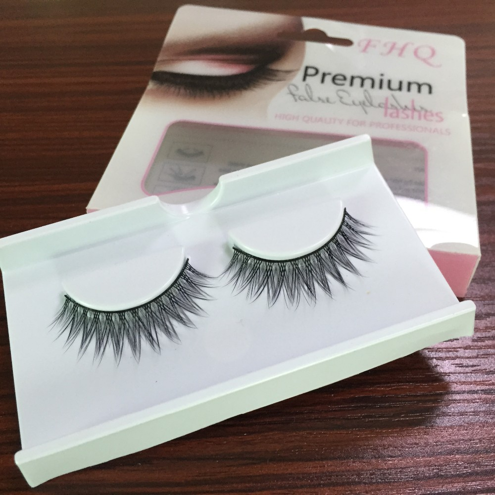 China manufacture top quality korean synthetic false eyelashes with glue