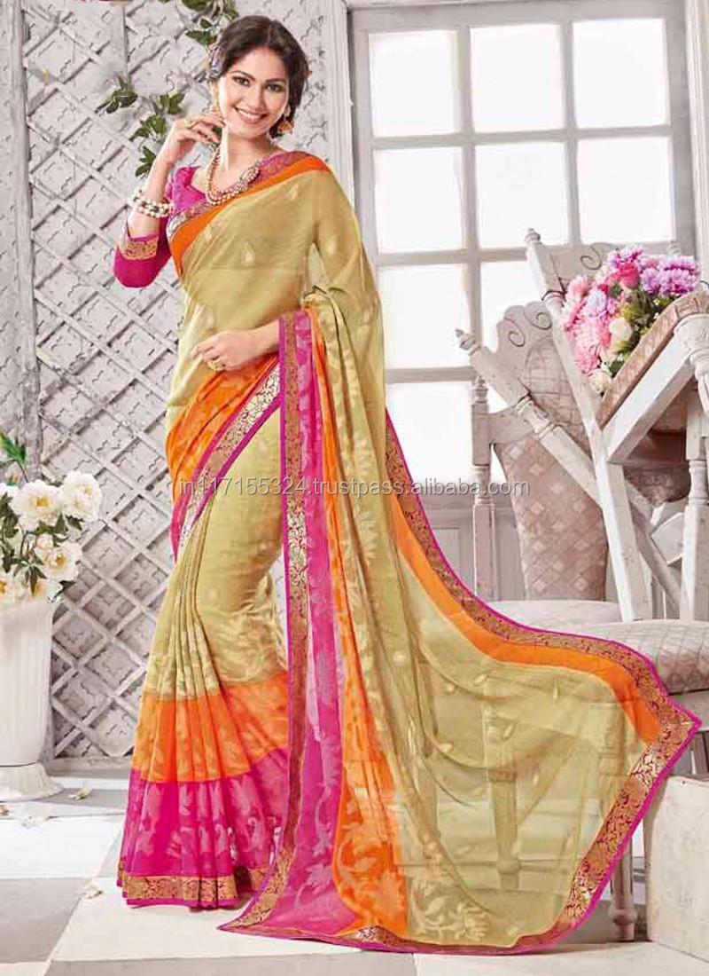 f19321bd58cec7 Saree - Party wear designer printed saree - Indian saree names - Indian  saree - Gujarati