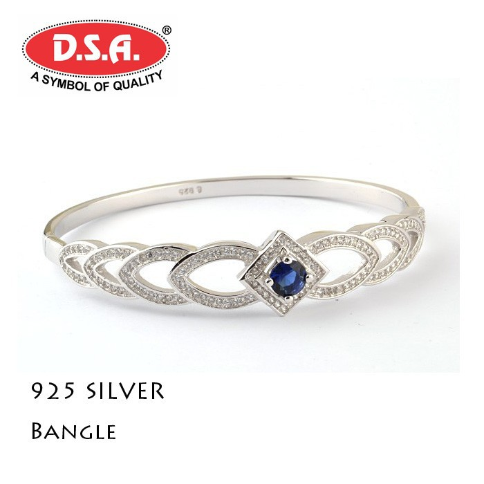 925 Sterling Silver Breslate Bangle - Buy Womens Sterling Silver ...