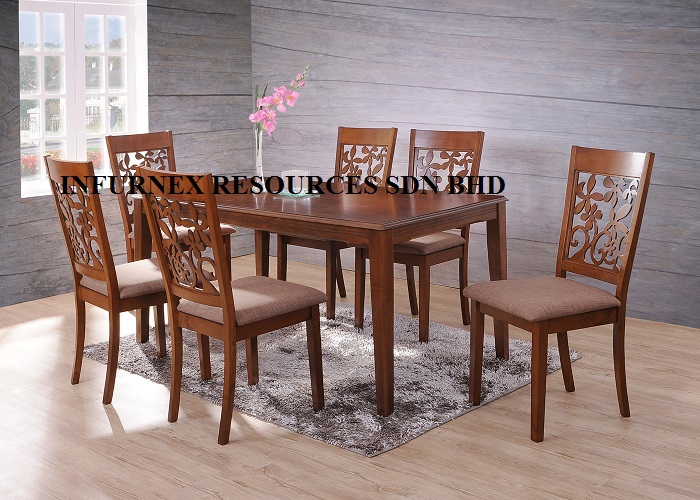 Malaysia Dining SetSolid Wood FurnitureDining TabkeDining Chair