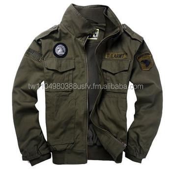 Legergroene Winterjas Heren.Mode Heren Usa Leger Luchtmacht Militaire Kraag Jas Bomber Jas