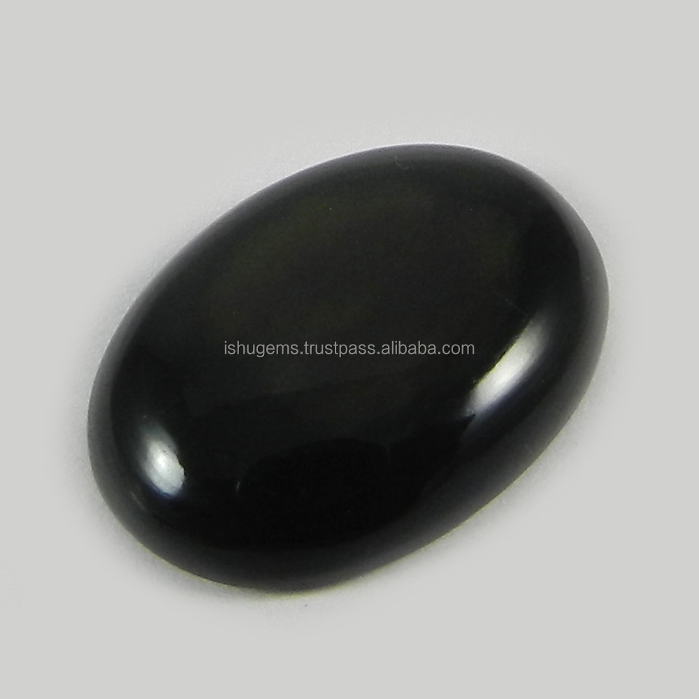 Christmas sale ! 3.15 gms Gold Sheen Obsidian 17x23mm Oval Cab, gemstone for jewellery IG0983