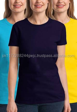 OEM Wholesale Customized Newest Promotion women o neck t-shirt/Wholesale Cheap Discount o neck short sleeve t-shirts for women