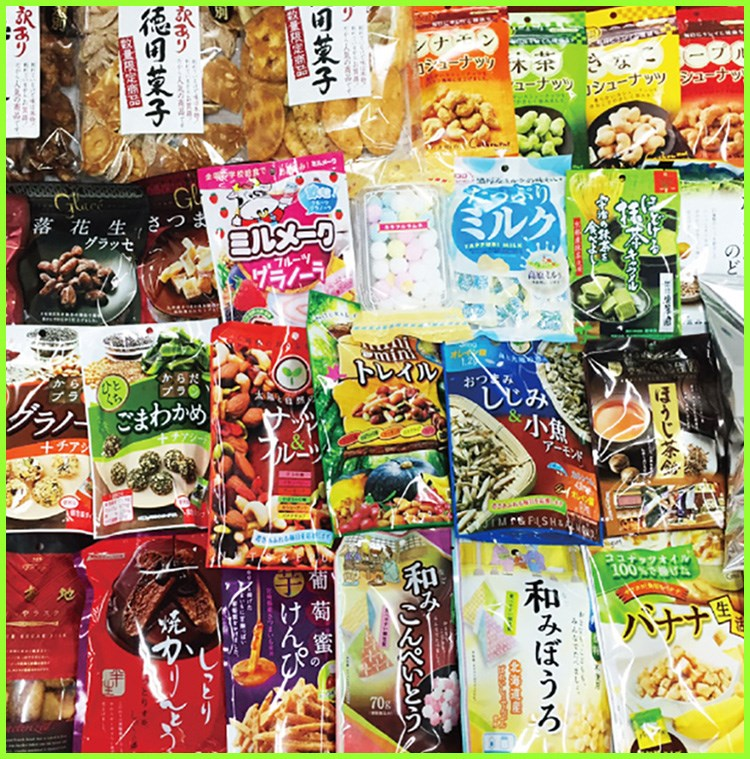Convenient and healthy nibbles , seafood & nuts mixed snack with liver-friendly nutritions made in Japan