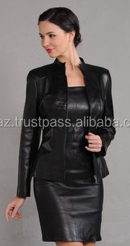 Women in Leather Dresses