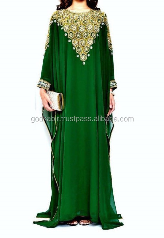 New Arrival Moroccan Caftan Women Arabian Beach Summer Long Dress./Dinky Royal Blue Color Popular Short Kaftan.