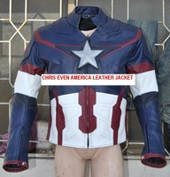 Avengers Age of ultron leather Costume jacket Chris Evans captain america jacket