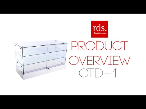 CTD-1 Glass Jewellery Display Counter