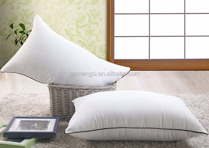 Wholesale OEM Hotel Soft polyester fibre pillow interiors pillows with good quality and moderate price