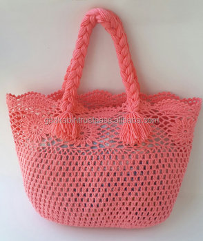 Women Bag Crochet Knitted Beach Handmade Ping
