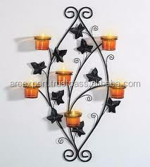 unique home art metal wall candle holders