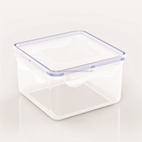 Plastic food storage container/Comfortable grips are easy to open and close-Plastic food container-L936