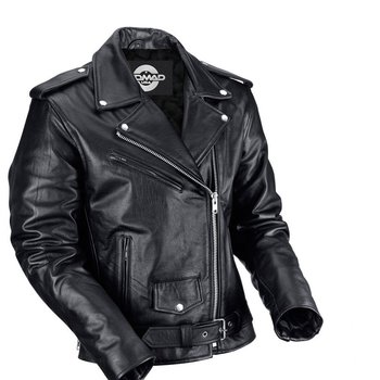 45f52d084a7 MILWAUKEE LEATHER Men s Classic Side Lace Police Style Motorcycle Jacket  (Black