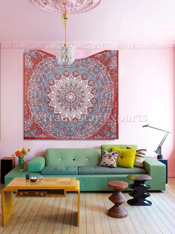 Indian Star Tapestry Cotton Mandala Wall Hangings Boho Dorm Decor Beach Blanket Throw