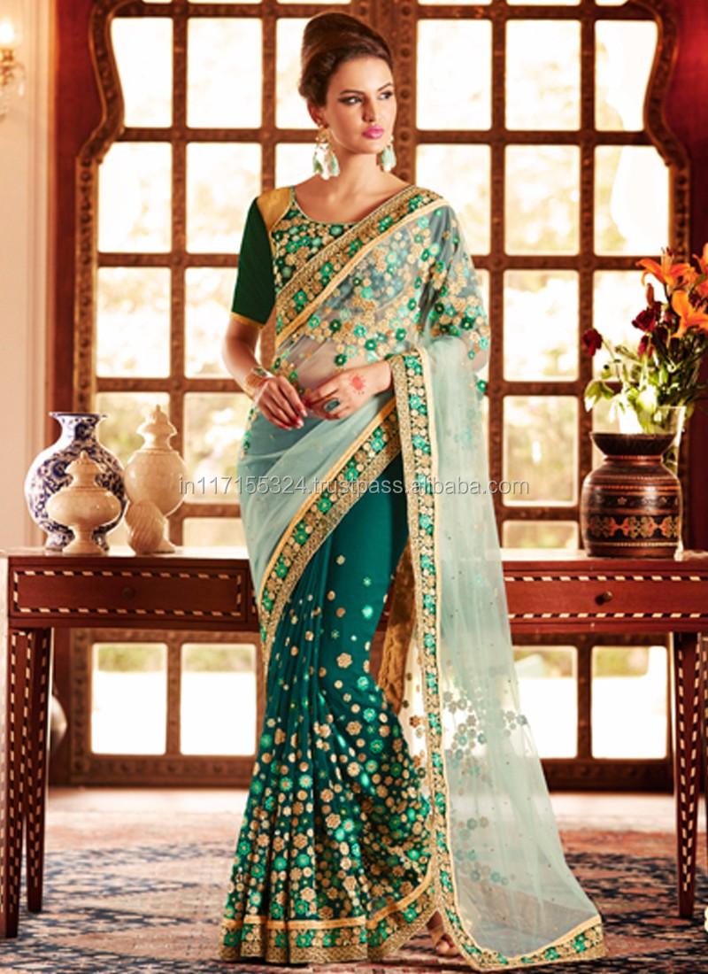 Saree Heavy Lacha Lehenga Style Saree Indian Saree