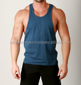 Men Singlet 100% Cotton Gym Athletic Vests Training Tank Top