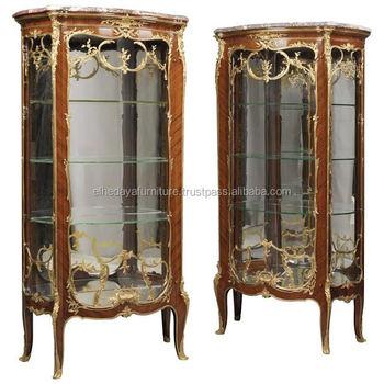 Bon Antique French Glass Vitrine