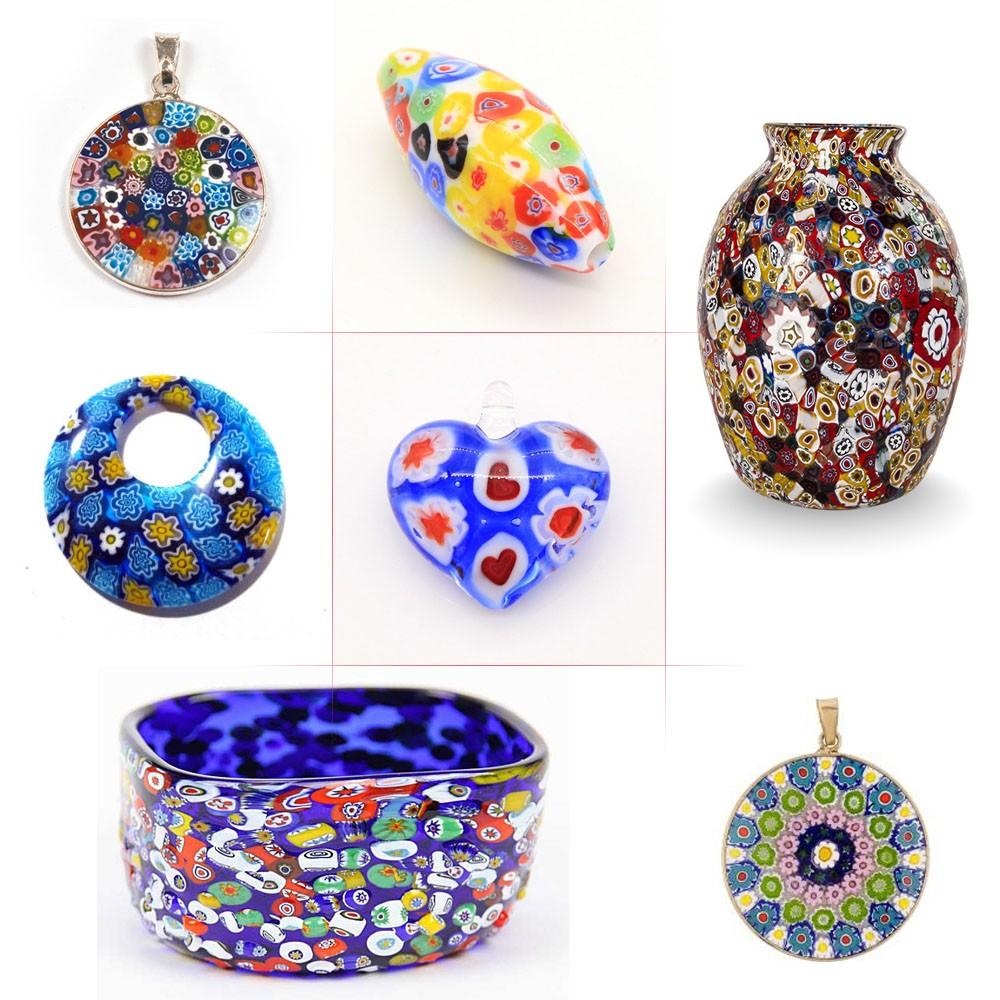 Wholesale Cheap Handmade Murano Lampwork Art Glass Blue Millefiori ...