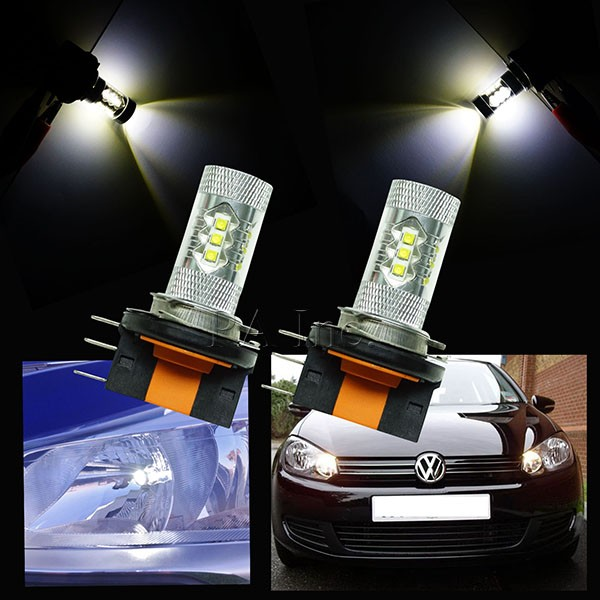H15 Halogen XB-D 16 LED 80W For Car Auto DRL Daytime Running Lights Headlight Fog Light Lamp Replacement Bulb 6000-6500K