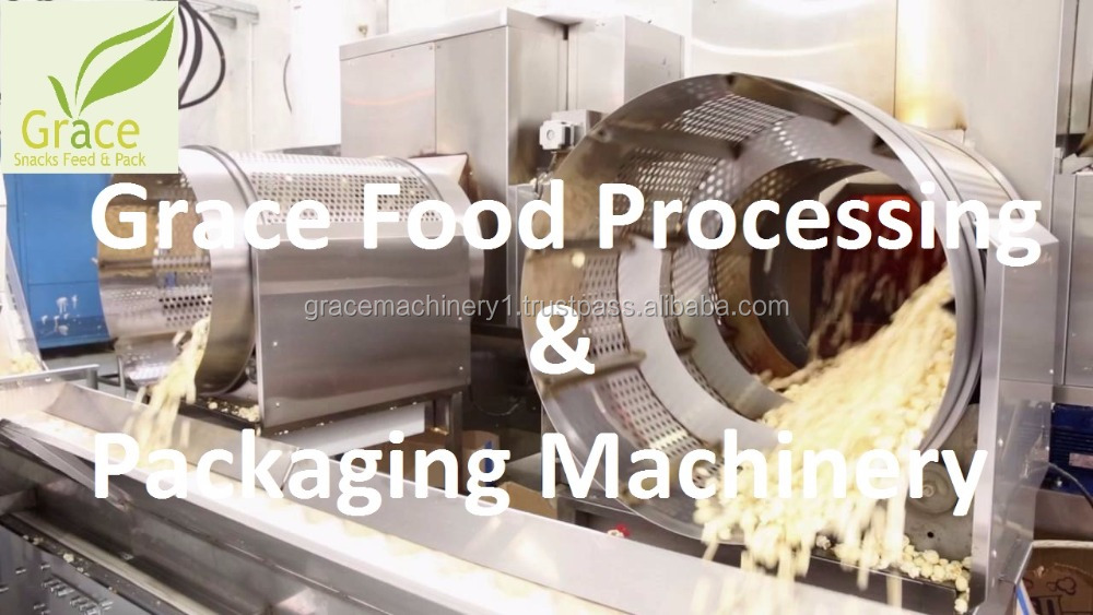 Automatic mushroom popcorn caramel coating machine