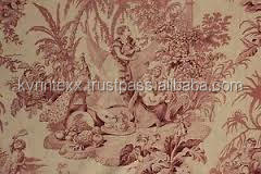 linen cretonne fabric for curtains