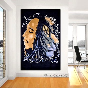 Bob Marley Tiger Face Tapestry Wall Hangings