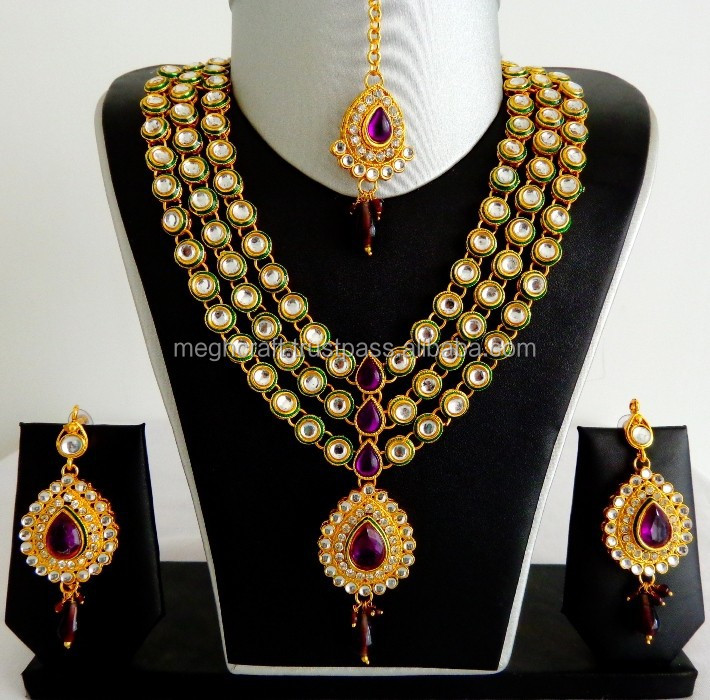 d2dbe53daaf42 Designer Kundan Jewelry Set-wholesale Kundan Jewellery Set-imitation Indian  Kundan Bridal Jewellery - Buy Indian Bridal Gold Jewellery ...