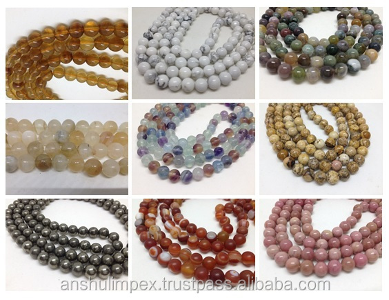 Natural White Agate Eye Loose Beads Semi Precious Stone Beads White Agate Beads
