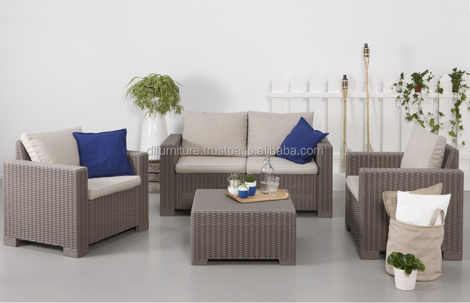 Luxury Wicker Garden Furniture Sets/ PE Wicker Sofa Sets for Outdoor