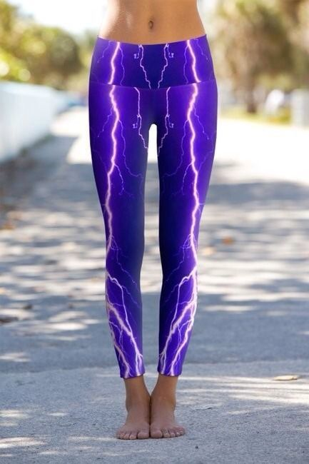 428e21a43851c Violet Lightning Yoga Pants - Printed Performance Leggings - Buy ...