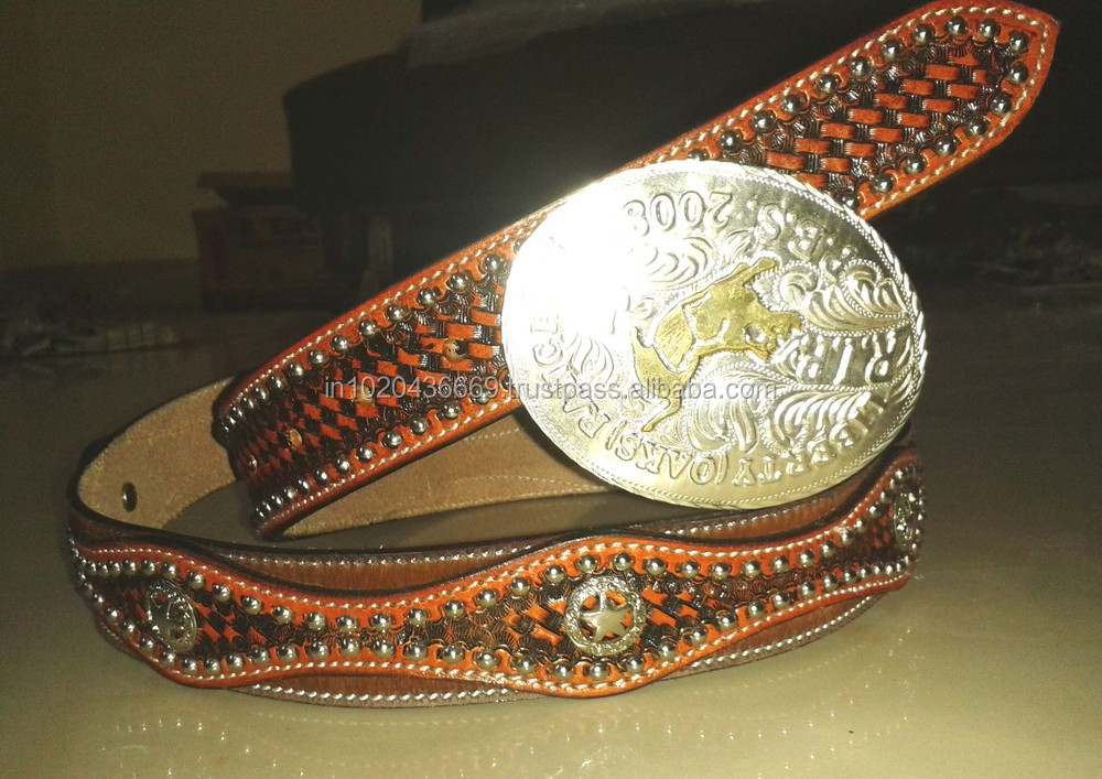 Western Belt Carving & Tooling Brown Antique Colour On American ...