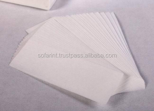 Rolls of muslin waxing strips