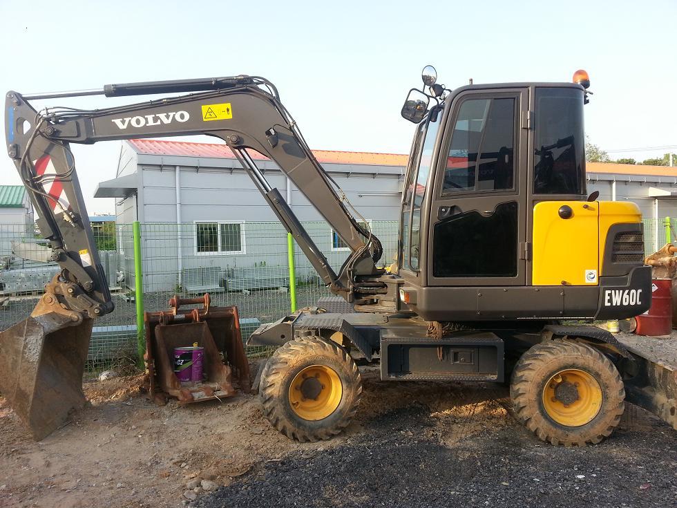 Volvo Mini Wheel Excavator Ew60c - Buy Volvo Mini Wheel Excavator Ew60c,Small Mini Excavator ...