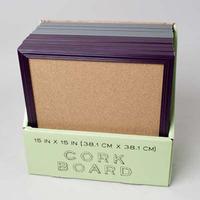 CORK BOARD 15 X 15 10PC PDQ - 5 GRAY, 5 WINE #52280