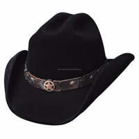 Wholesale Custom Wool Felt hat For Lemmy Men Cowboy hat