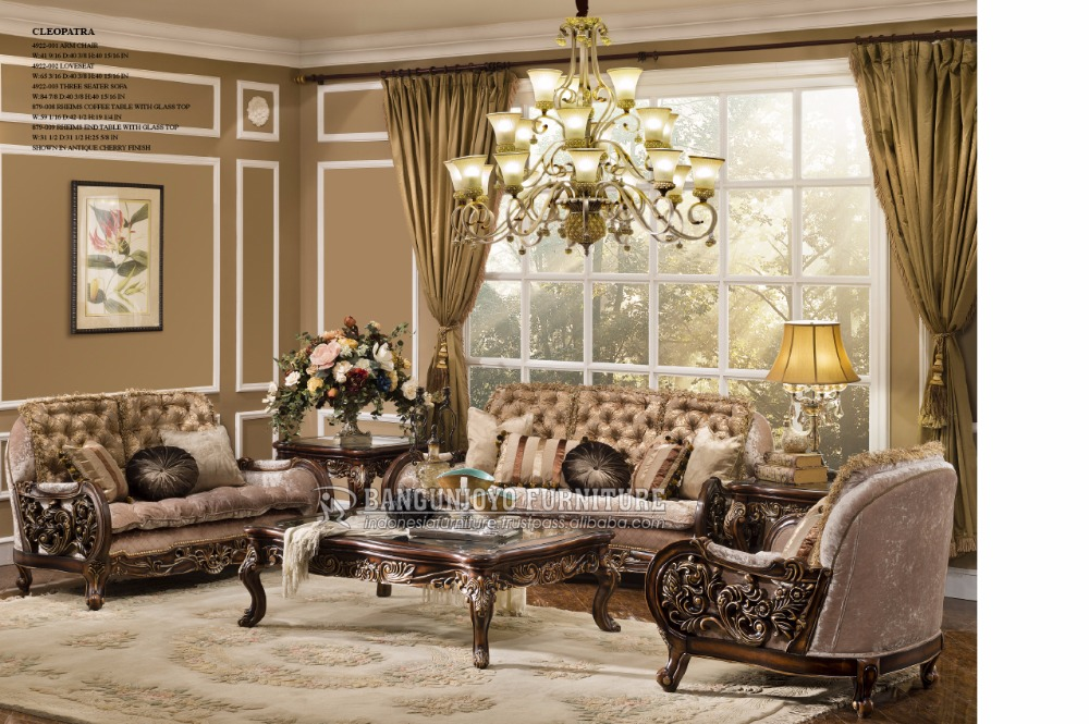 Royal Carved Traditional Style Living room Set, View antique ...