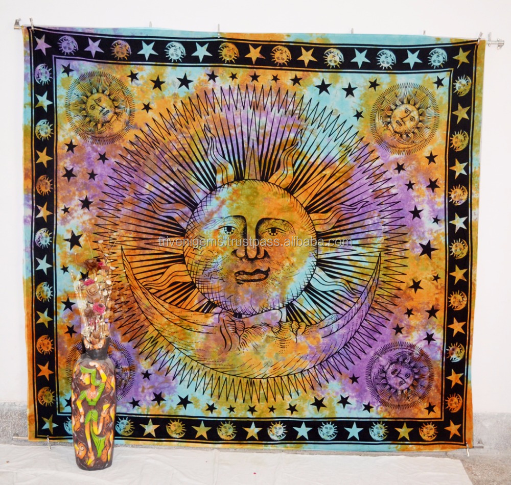 Zon Wandtapijt Opknoping Hippie Kamer Decor Ideeën Slaapkamer ...