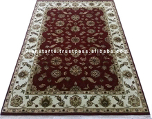 red wool carpet indian hand knotted rug