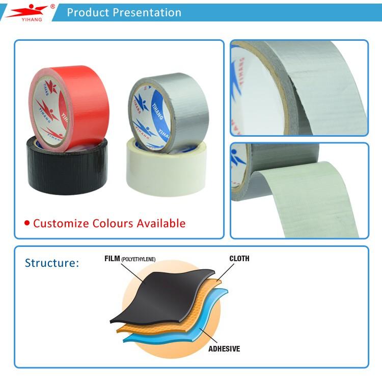 Waterdichte Rubber Lijm Duct Gaffer Tape OEM Aangepaste