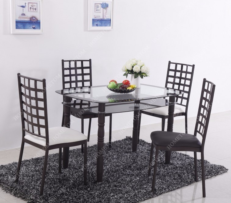 Malaysia Tempered Glass Dining Table Made In China