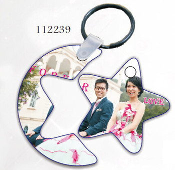 sublimation blank wood lover keychain cheap personalized printing