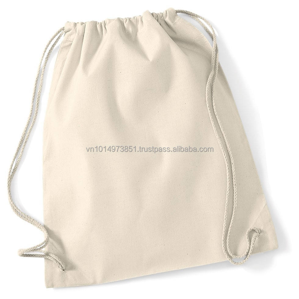 Vietnam Bulk Organic Cotton Drawstring Backpacks Wholesale