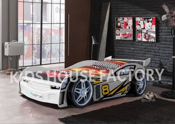 white kids car bed night racer car bed