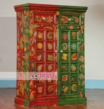Sensational Indian Wooden Mango Wood Painted Armoire Wardrobe Bedroom Furniture Almirah Designs Buy Bedroom Almirah Designs Painted Furniture Painted Armoire Beutiful Home Inspiration Ommitmahrainfo