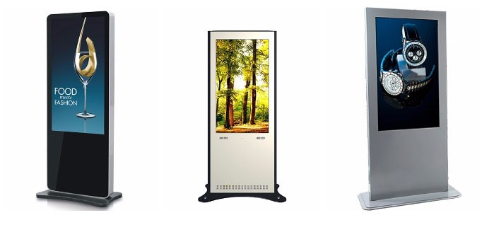 Custom interactieve touch screen reclame display/LCD digital signage kiosk