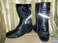 Women Gen Metal silver Leather motorbike racing Shoes/Boots