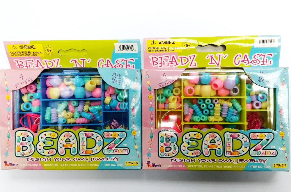 DIY Bead Box Jewelry Instruction on Box Bracelet Girl Kids Princess Home Craft Birthday Party Favor Gift Loot Gift Novelty Prize